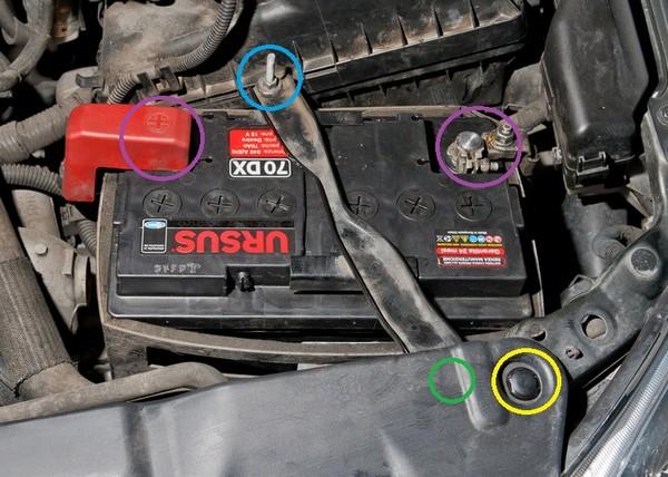 cambiare la batteria dell'auto