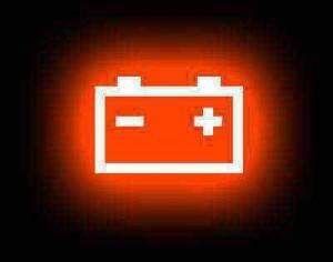 spia batteria accesa