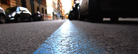 ricorso per multa da parcheggio su strisce blu