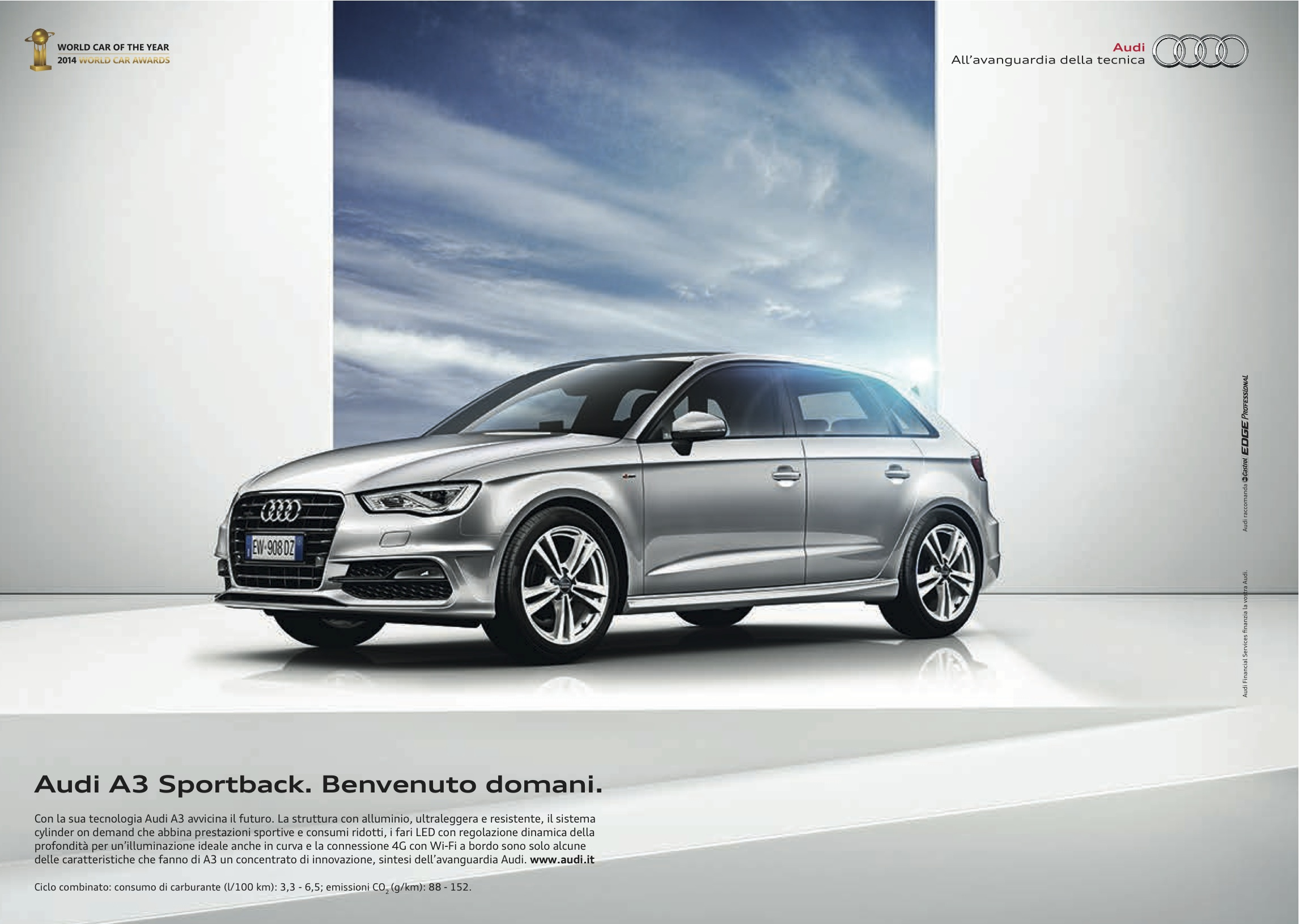 audi a3 sportback una danza tra innovazione e design. Black Bedroom Furniture Sets. Home Design Ideas