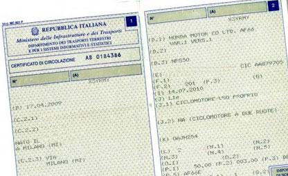 certificato di proprietà